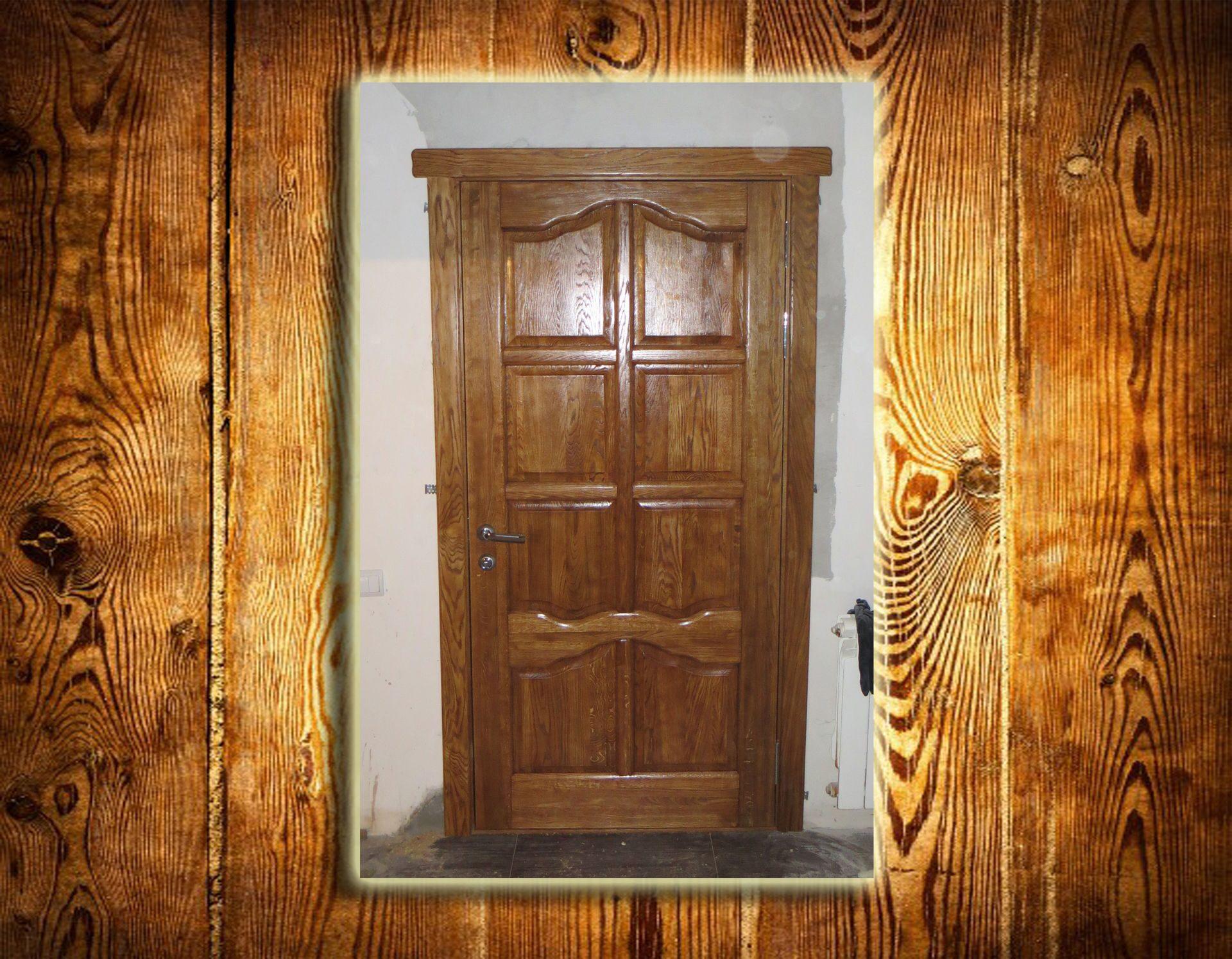 Дверь из массива дуба своими руками